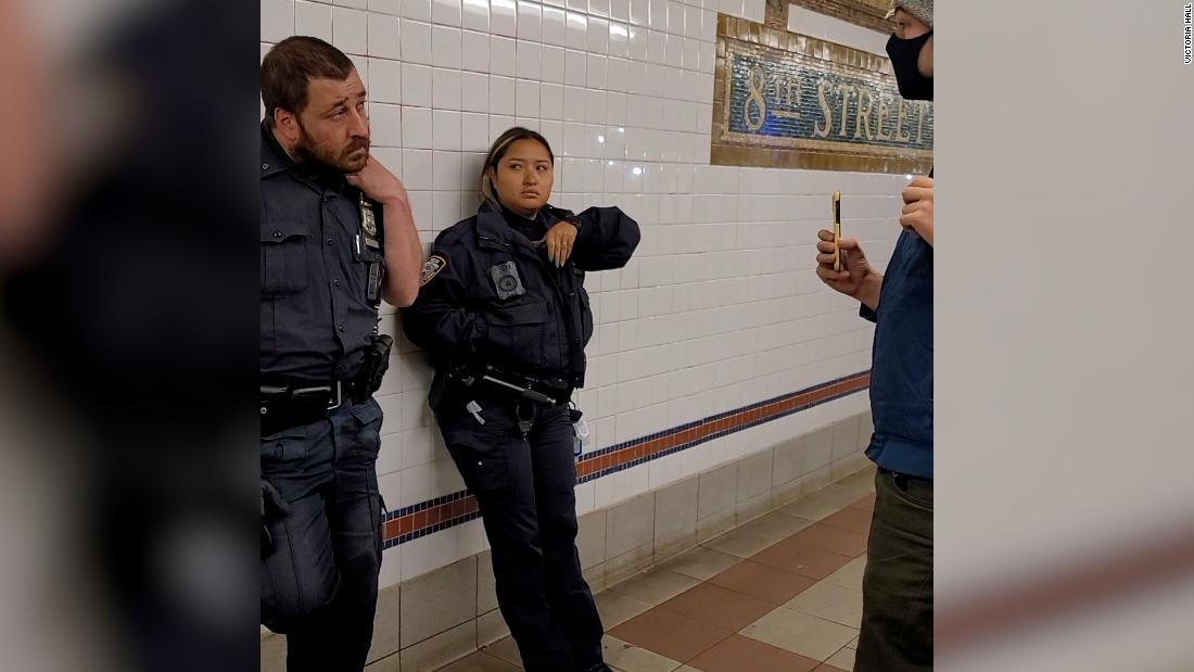 A subway rider confronted two cops not wearing masks. This is what happened next