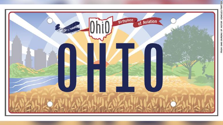 Ohio mixes up Wright Brothers' commemorative license plate