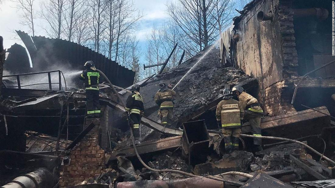 Explosion at Russian gunpowder workshop kills 17, report says
