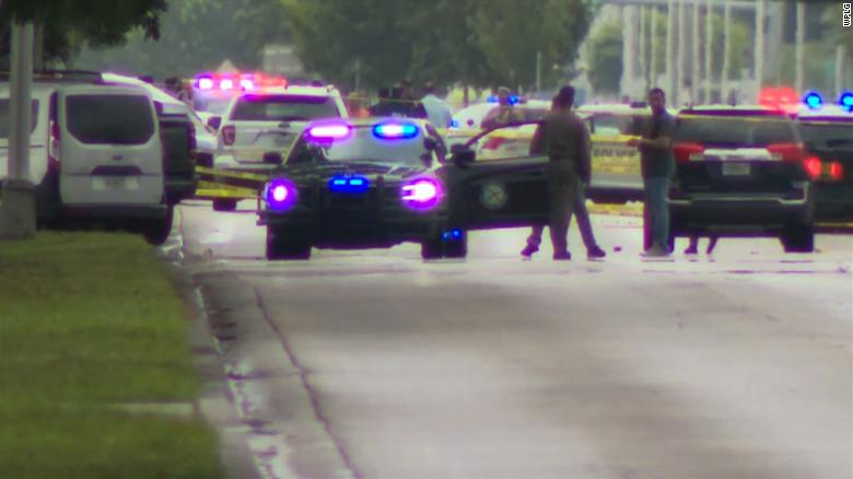 Two Doral police officers injured, suspect killed in shooting outside Miami-Dade police station