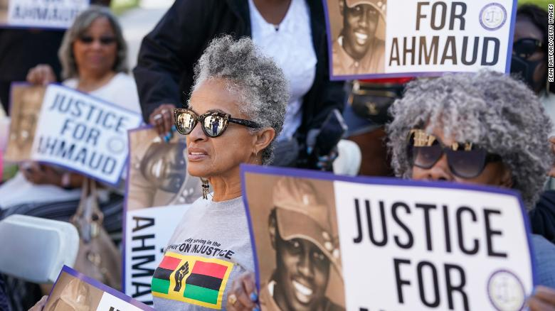 As the Ahmaud Arbery trial starts, activists from across the country are showing up to support him and his family
