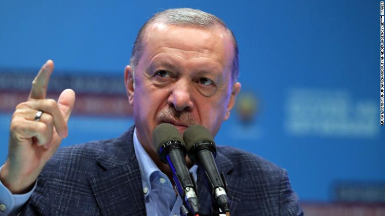 Turkey's president has ordered 10 ambassadors to be declared 'persona non grata' for backing jailed activist