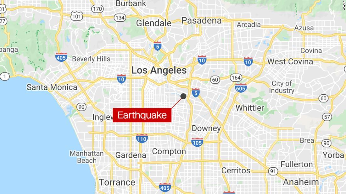 3.6 magnitude earthquake rattles metro Los Angeles