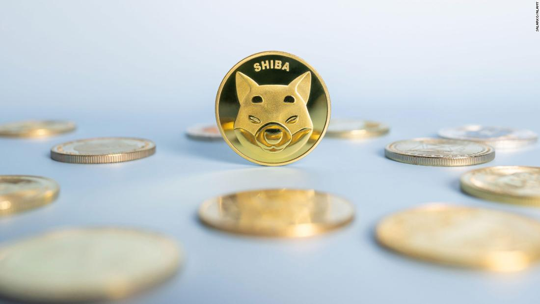 Shiba inu coin, a meme cryptocurrency, hits all-time high