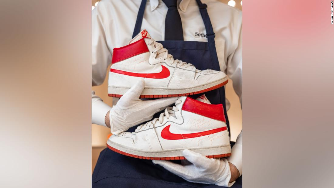 Michael Jordan's sneakers sell for record-breaking $1.47 million