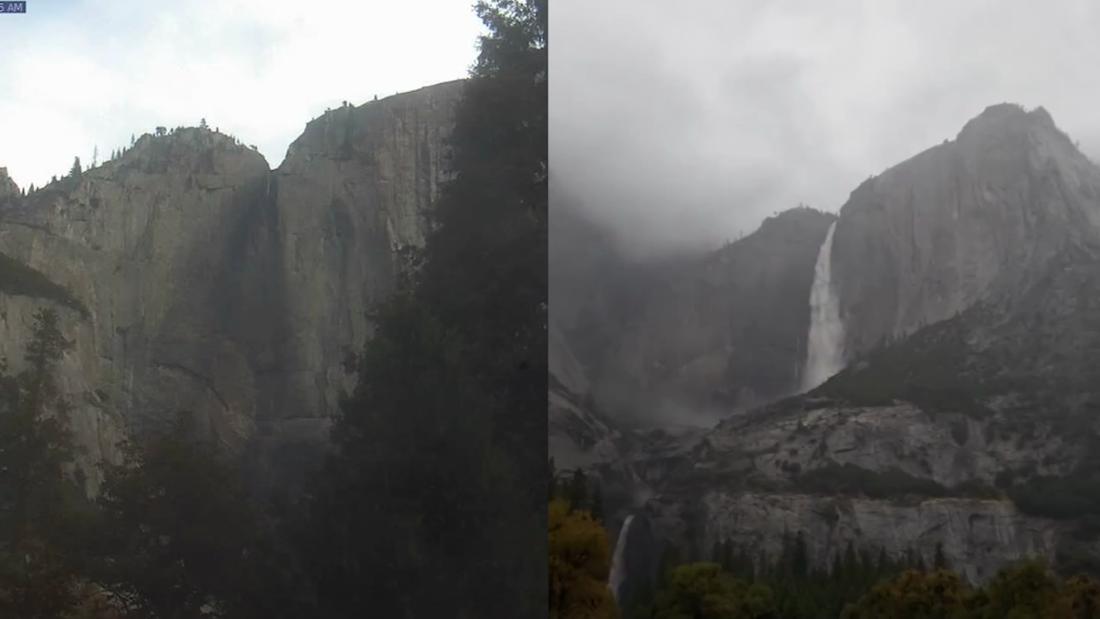 Watch Yosemite Falls surge back to life after massive storm