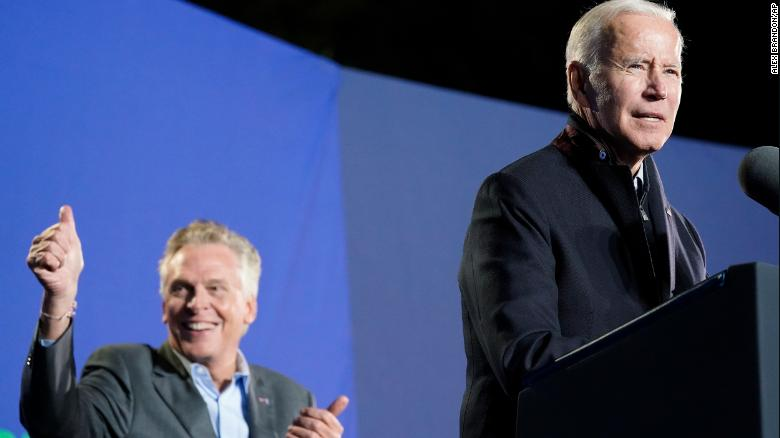 Biden makes his closing pitch in Virginia by unloading on Youngkin and comparing him to Trump