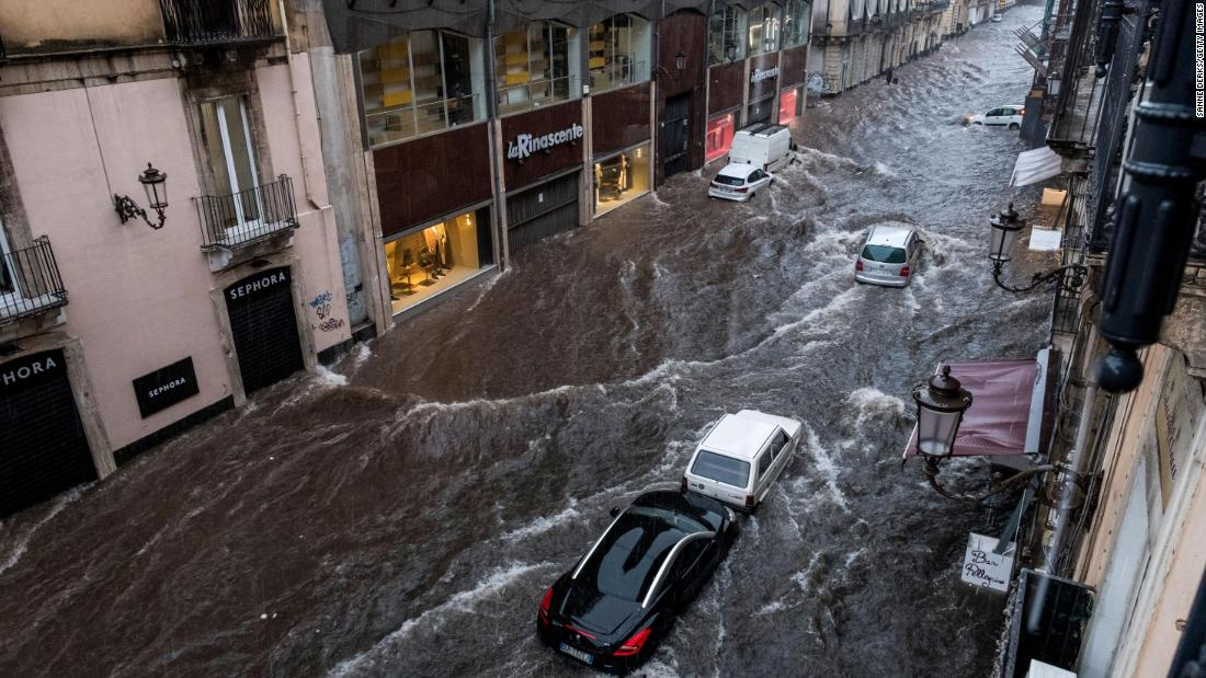 Storm dumps one year's worth of rain in two days in southern Italy